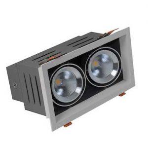 Đèn led âm trần đôi D AT12L 240x125/9Wx2.DA Rạng đông