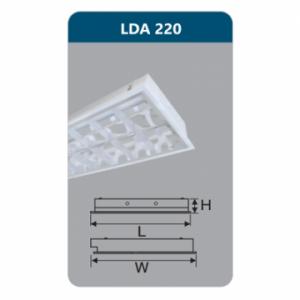 Máng đèn Led T8 2x9W LDA220 Duhal
